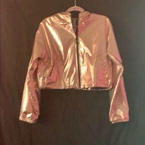Rose Gold Cropped Jacket